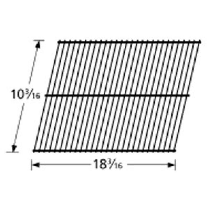 """9990101 Galvanized Steel Wire Rock Grate 10.1875"""" x 18.1875"""""""