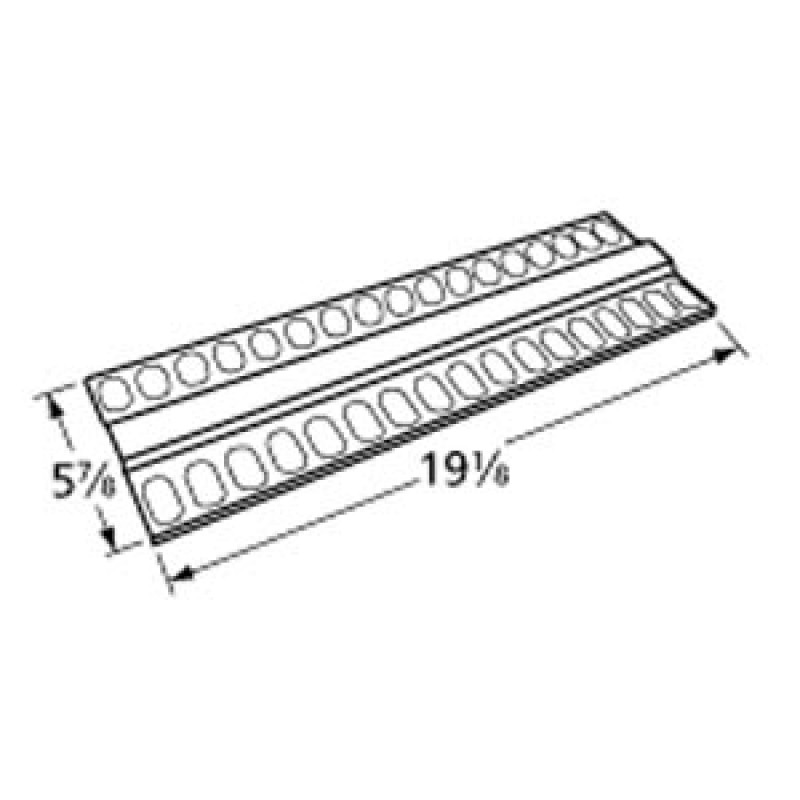 "9990789 Aluminized Steel Heat Plate 19.125"" x 5.875"""