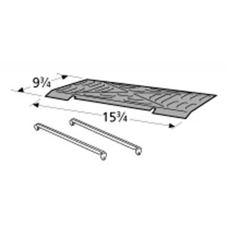 "0415 0197 Sunbeam Porcelain Steel Heat Plate 9.75"" x 15.75"""