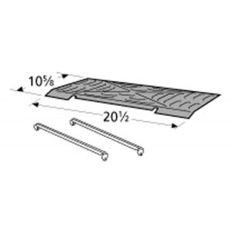"""9991023 Porcelain Steel Heat Plate 10.625"""" x 20.5"""""""