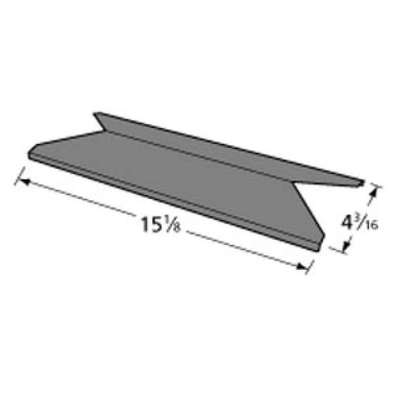 """341-026 Kenmore Porcelain Steel Heat Plate 15.125"""" x 4.1875"""""""