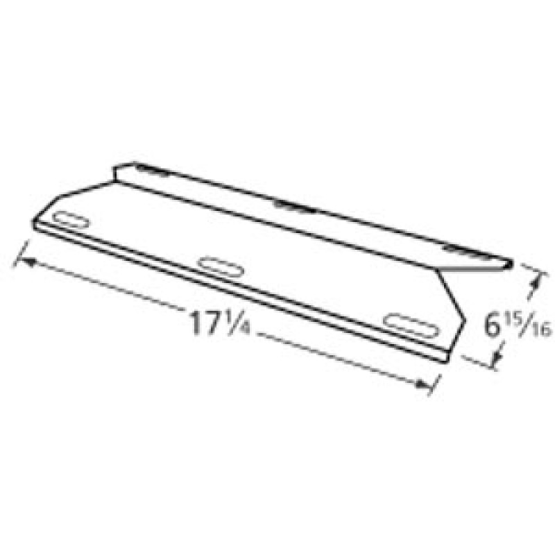 """9991241 Stainless Steel Heat Plate 17.25"""" x 6.9375"""""""