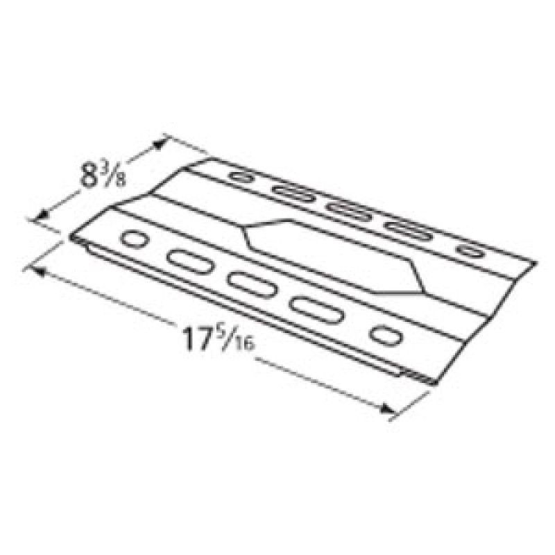 "K15 Nexgrill Stainless Steel Heat Plate 17.3125"" x 8.375"""