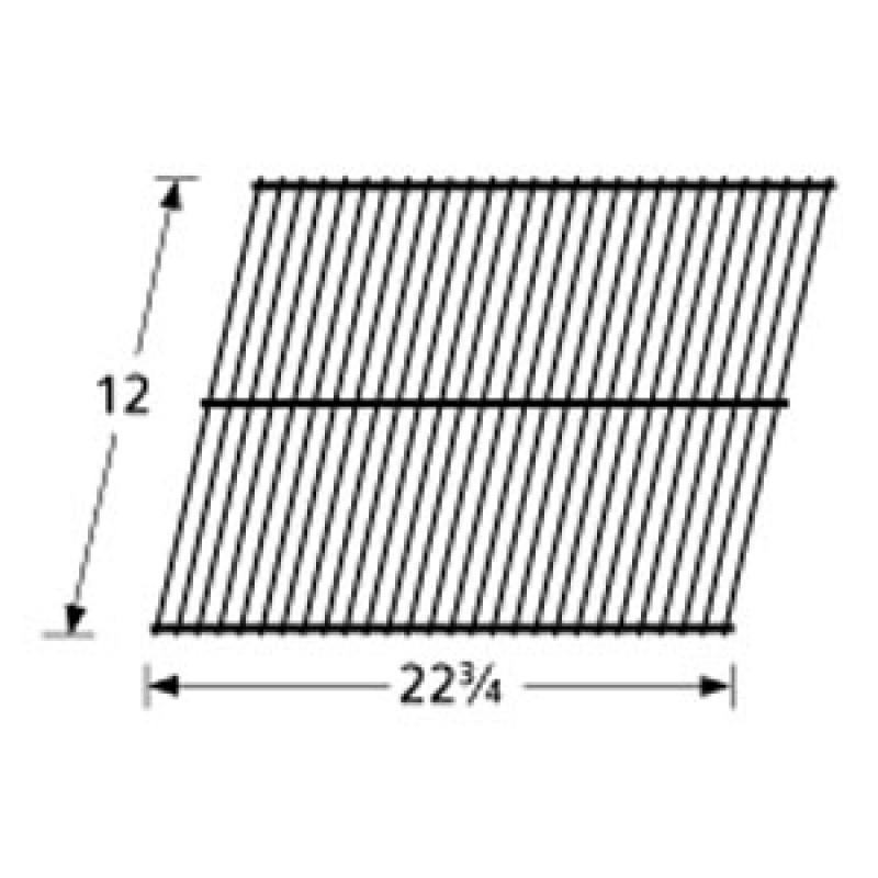 """SP25-9G Galvanized Steel Wire Rock Grate 12"""" x 22.75"""""""