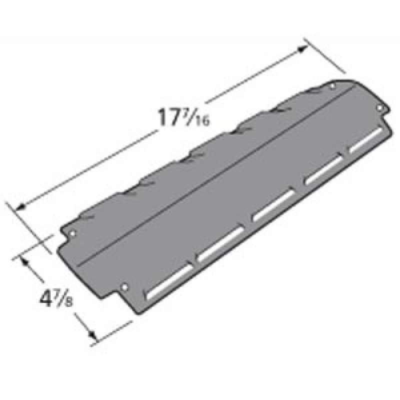 "9991381 Porcelain Steel Heat Plate 17.4375"" x 4.875"""