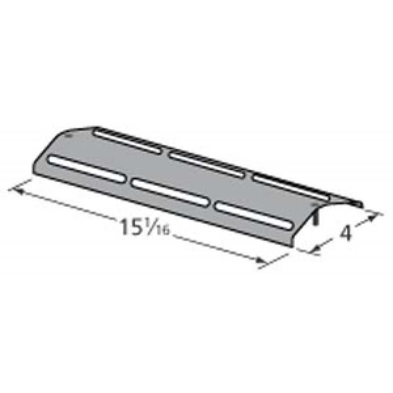 """9991631 Porcelain Steel Heat Plate 15.0625"""" x 4"""""""