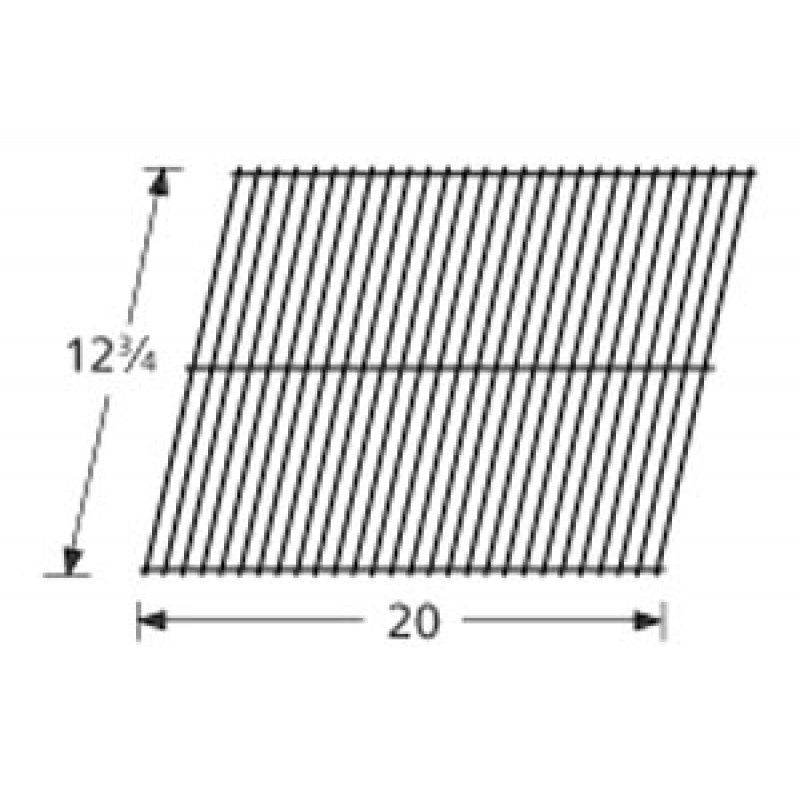 "3300 15 Sunbeam Galvanized Steel Wire Rock Grate 12.75"" x 20"""
