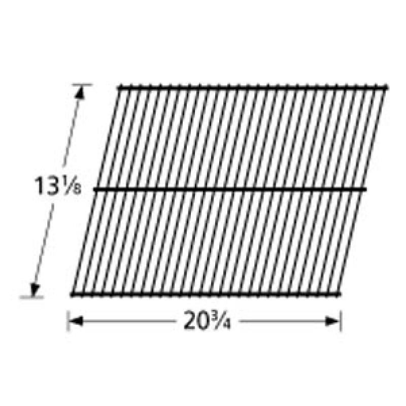 """9300 15 Sunbeam Galvanized Steel Wire Rock Grate 13.125"""" x 20.75"""""""