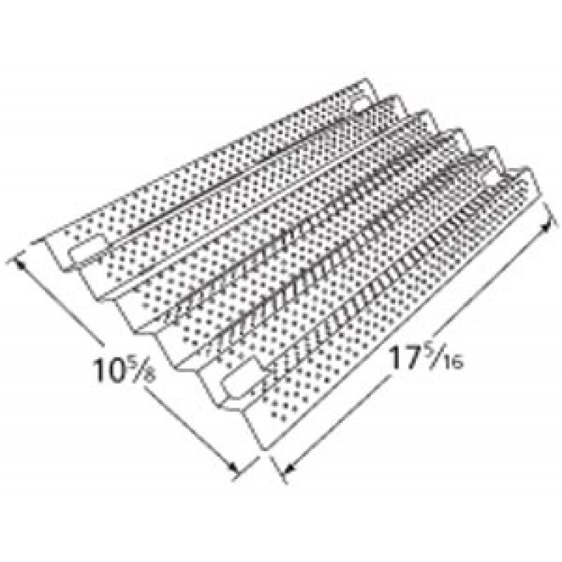 """9991931 Stainless Steel Heat Plate 17.3125"""" x 10.625"""""""