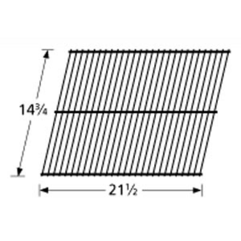 """3400 15 Sunbeam Galvanized Steel Wire Rock Grate 14.75"""" x 21.5"""""""