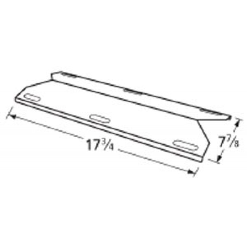 "9992631 Stainless Steel Heat Plate 17.75"" x 7.875"""