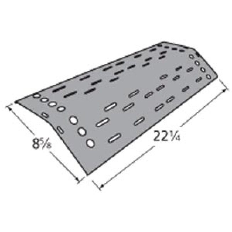 "9992681 Porcelain Steel Heat Plate 22.25"" x 8.625"""