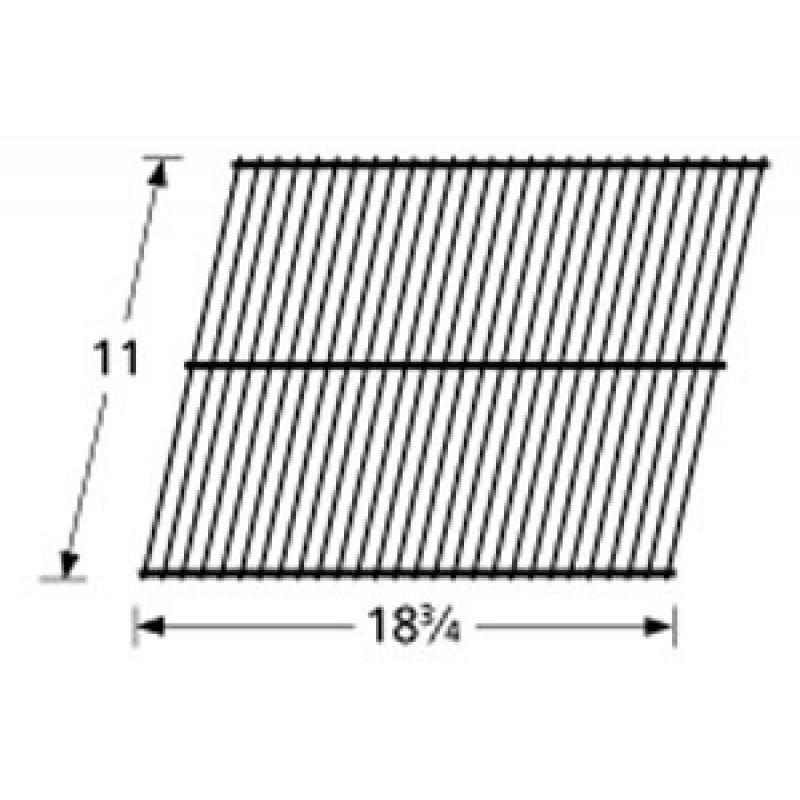 """3100 15 Sunbeam Galvanized Steel Wire Rock Grate 11"""" x 18.75"""""""