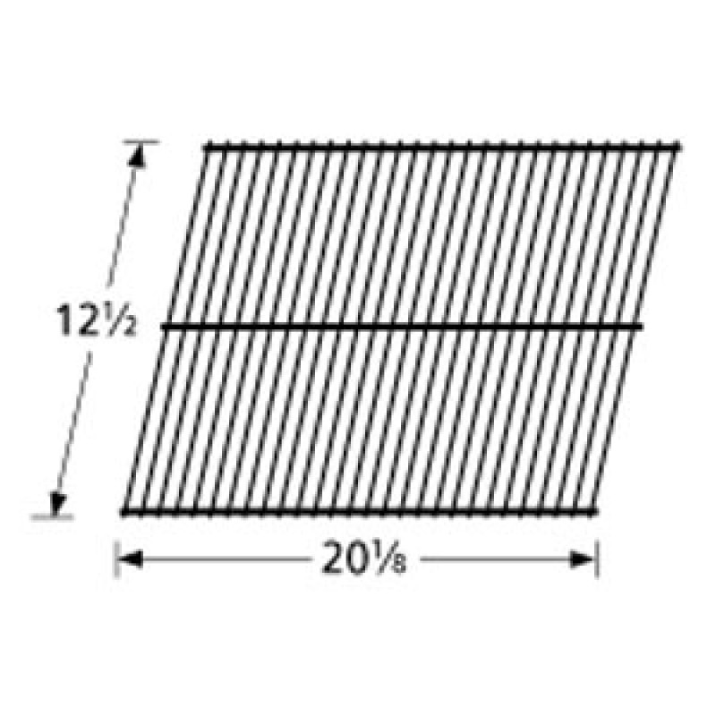 "3700 15 Sunbeam Galvanized Steel Wire Rock Grate 12.5"" x 20.125"""