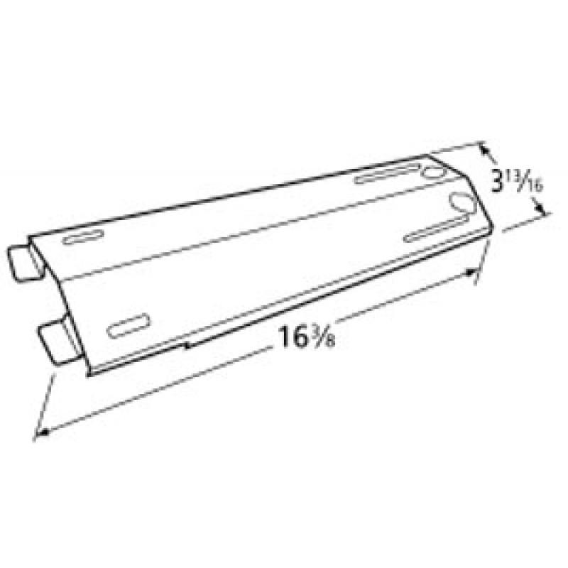 "P01708007B Sams Stainless Steel Heat Plate 16.375"" x 3.8125"""