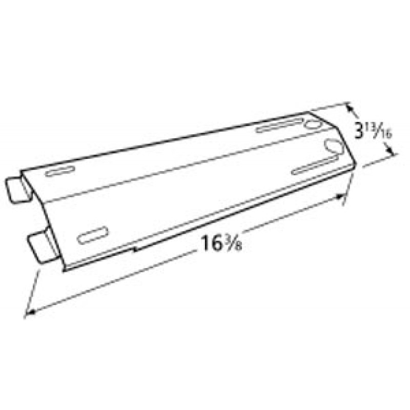 "P01708033B Kirkland Stainless Steel Heat Plate 16.375"" x 3.8125"""