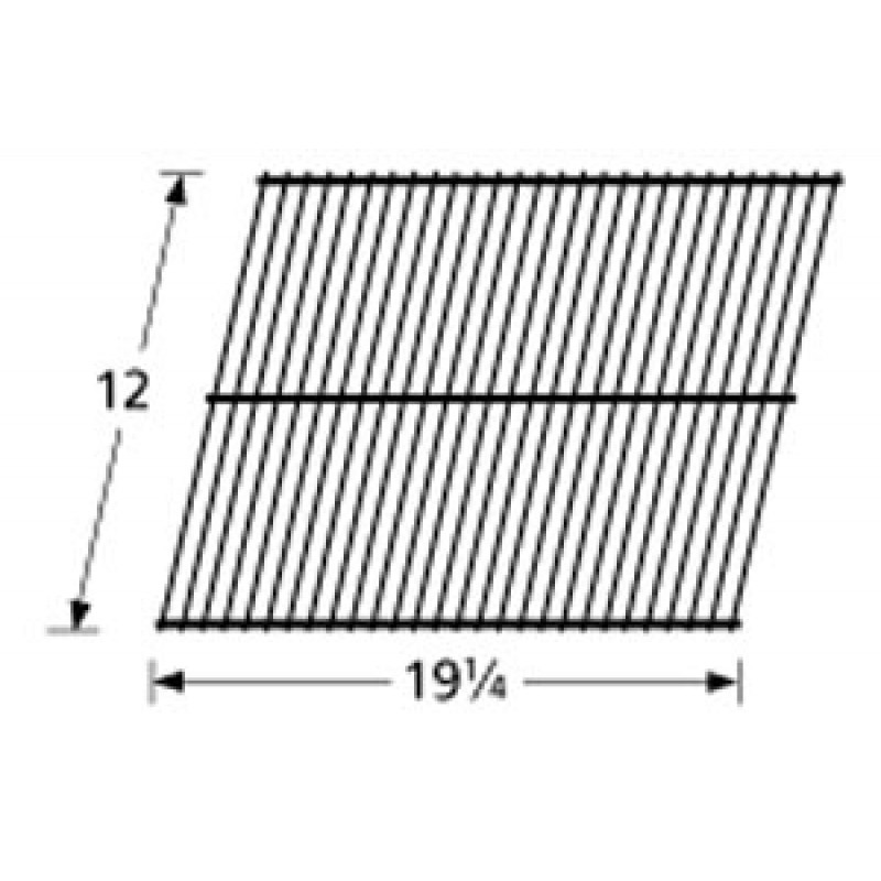 "SM68-6 Galvanized Steel Wire Rock Grate 12"" x 19.25"""