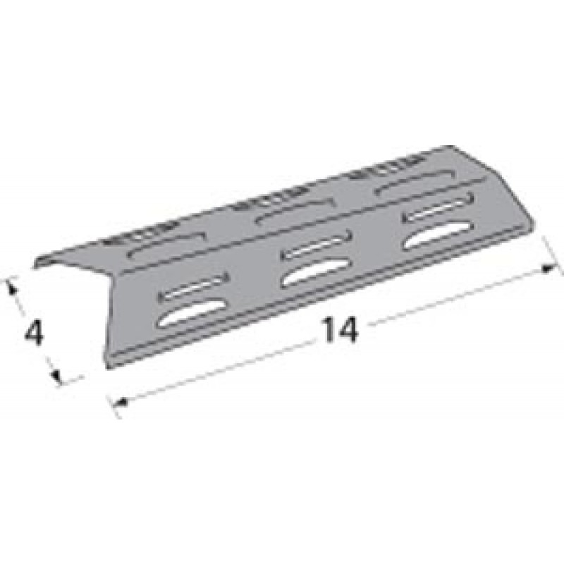 "9993411 Porcelain Steel Heat Plate 14"" x 4"""