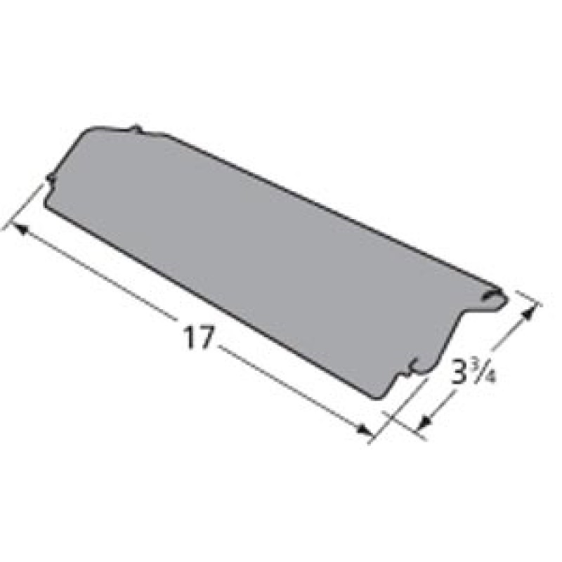 "80003394 Charbroil Porcelain Steel Heat Plate 17"" x 3.75"""