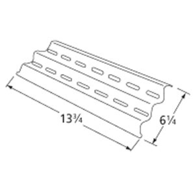 """9994001 Stainless Steel Heat Plate 13.75"""" x 6.25"""""""