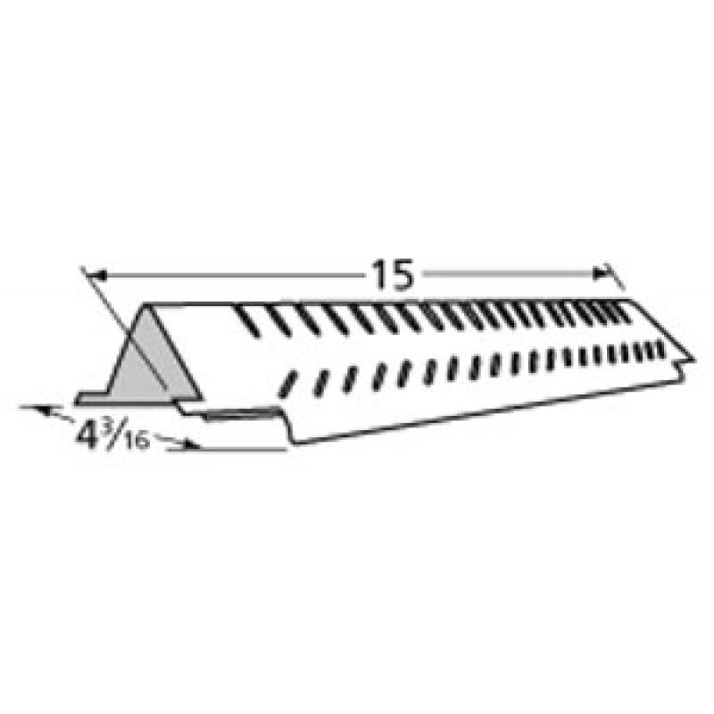 """G4010029000 Centro Stainless Steel Heat Plate 15"""" x 4.1875"""""""