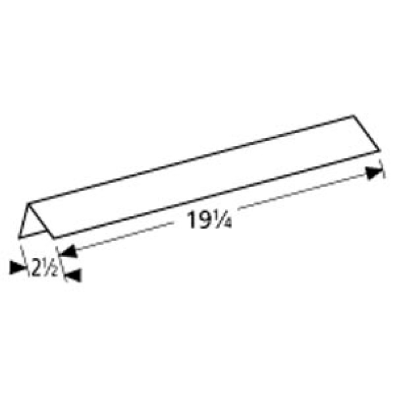 """4151038 Charbroil Stainless Steel Heat Angle 19.25"""" x 2.5"""""""