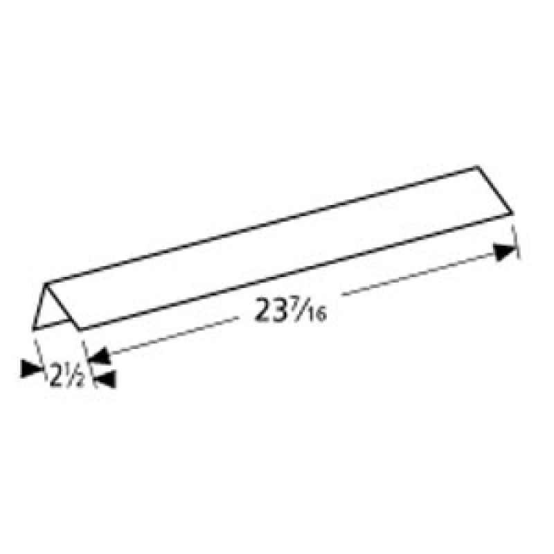 """4156417 Charbroil Stainless Steel Heat Angle 23.4375"""" x 2.5"""""""