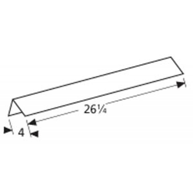 """4500291 Charbroil Stainless Steel Heat Angle 26.25"""" x 4"""""""