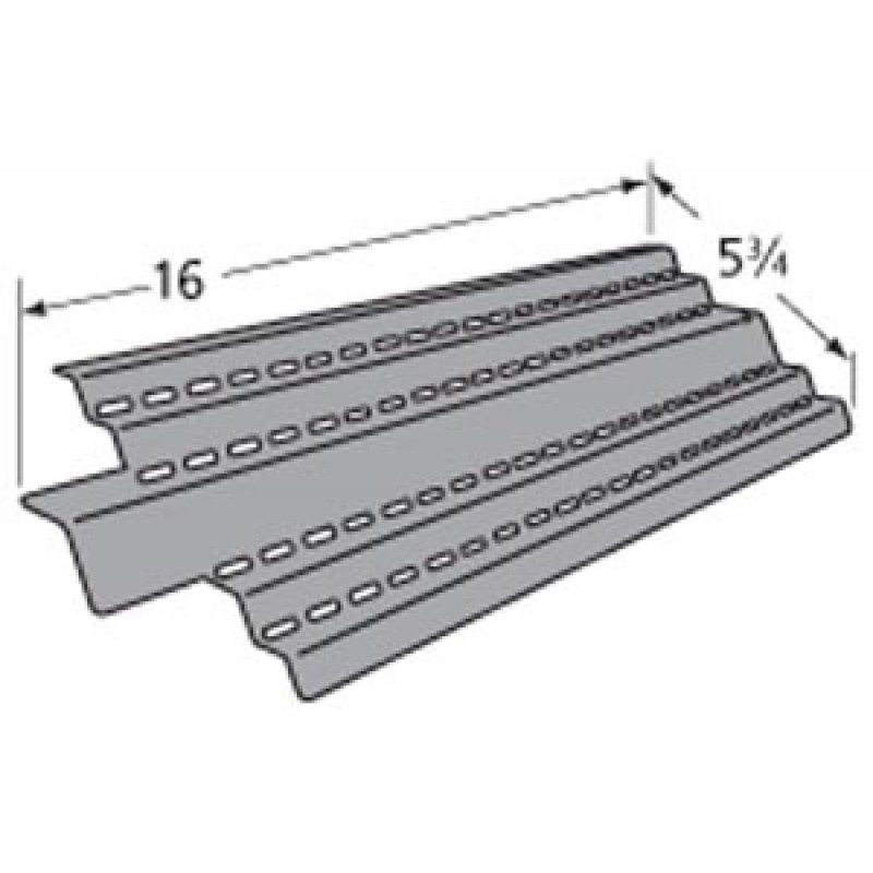 "9994491 Porcelain Steel Heat Plate 16"" x 5.75"""