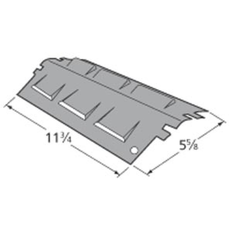 "7000082 Charbroil Porcelain Steel Heat Plate 11.75"" x 5.625"""