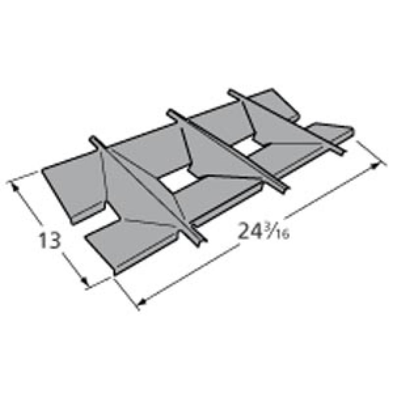 """9995031 Porcelain Steel Heat Plate 13"""" x 24.1875"""""""