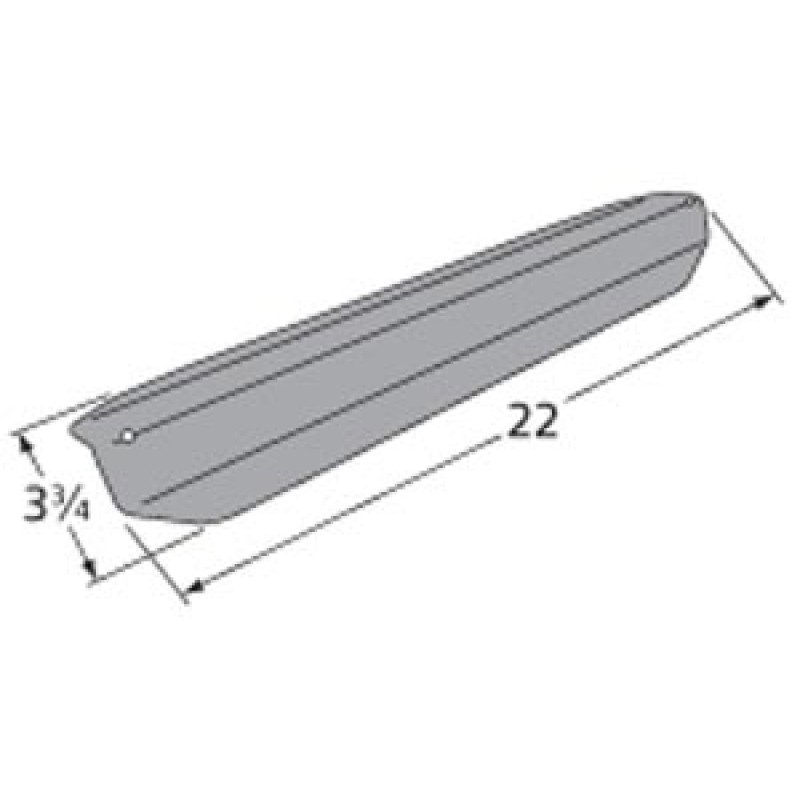 "9995081 Porcelain Steel Heat Plate 22"" x 3.75"""