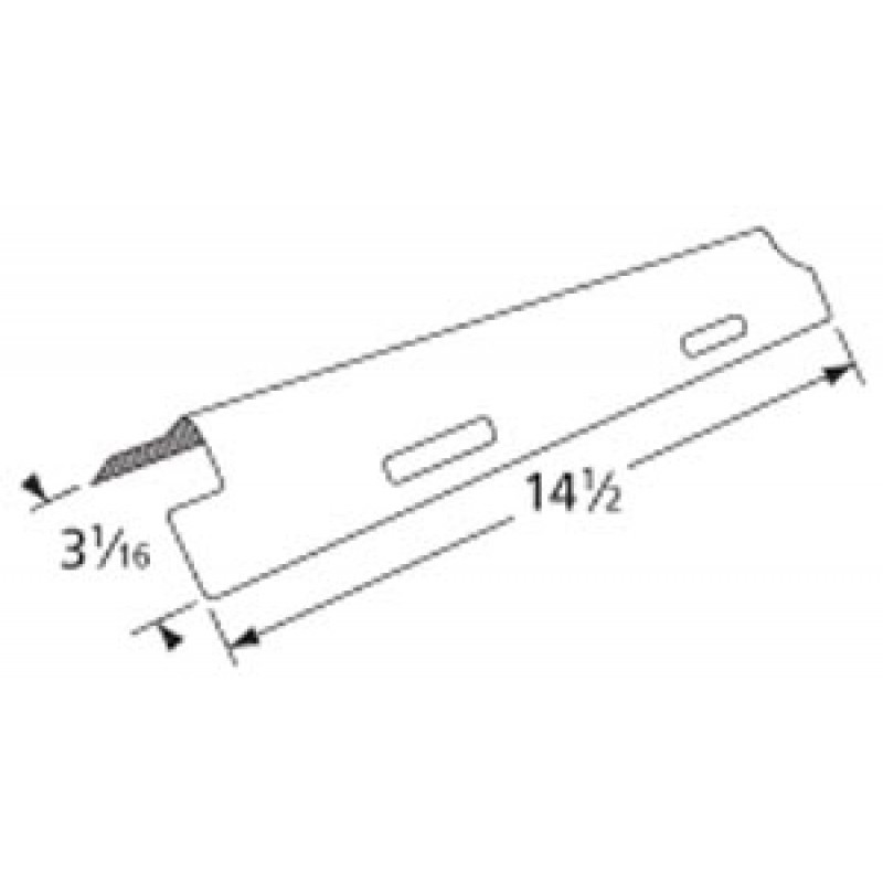 """9995861 Stainless Steel Heat Plate 14.5"""" x 3.0625"""""""