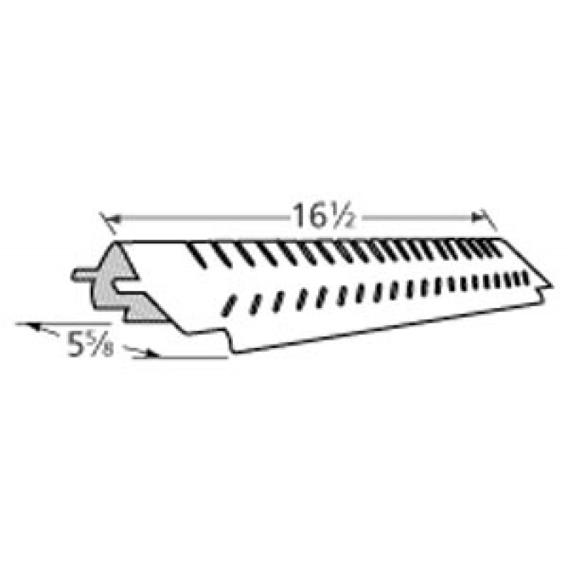 """G6010016000 Centro Stainless Steel Heat Plate 16.5"""" x 5.625"""""""