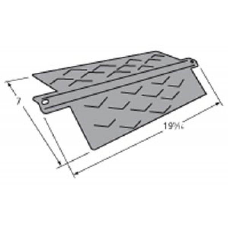 """9996411 Porcelain Steel Heat Plate 19.5625"""" x 7"""""""