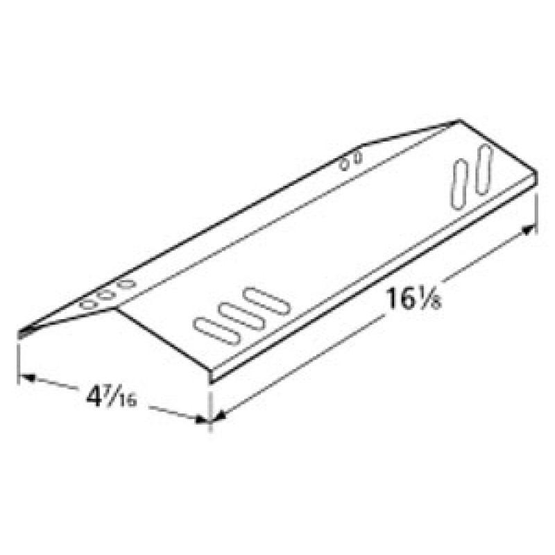 """9996421 Stainless Steel Heat Plate 16.125"""" x 4.4375"""""""