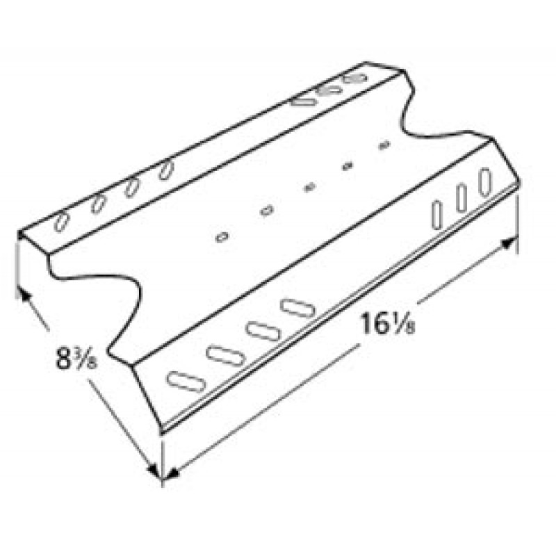"""SA0021-1 Kenmore Stainless Steel Heat Plate 16.125"""" x 8.375"""""""