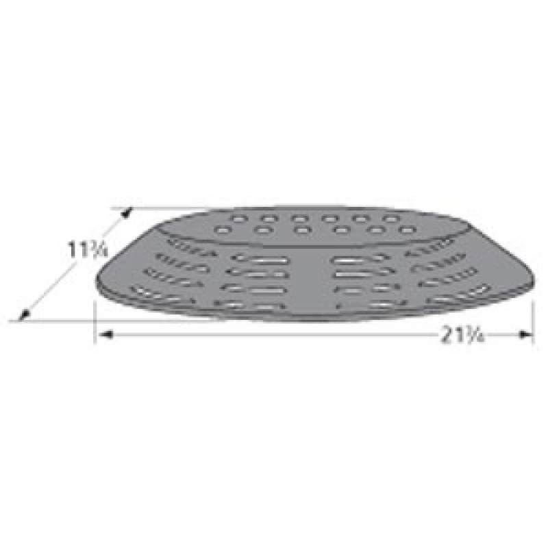 "55-07-319 Uniflame Porcelain Steel Heat Plate 21.75"" x 11.75"""