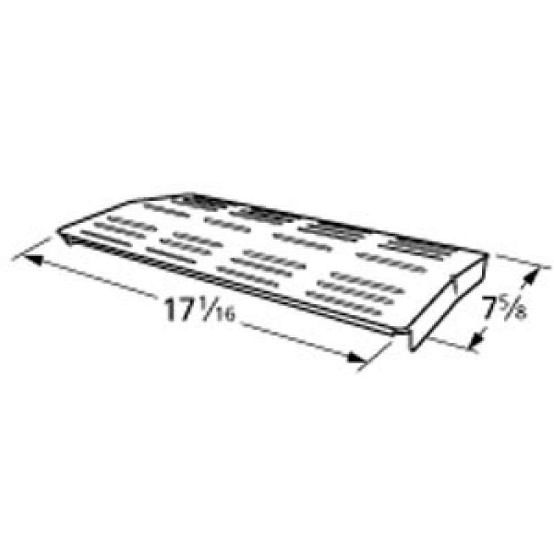 """P1744A Charbroil Stainless Steel Heat Plate 17.0625"""" x 7.625"""""""