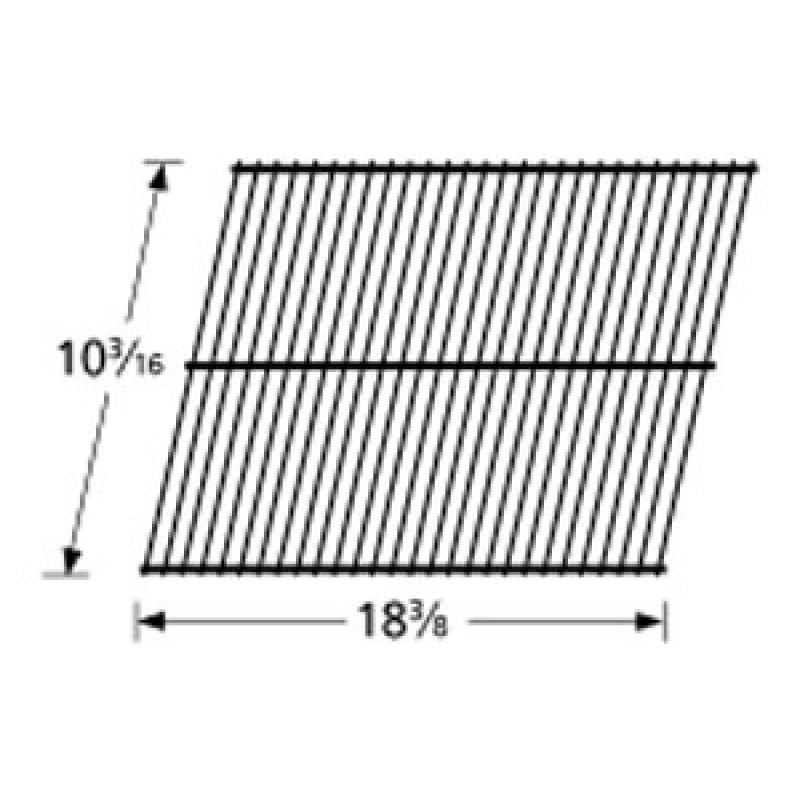 "0085 3001 Grill Master Galvanized Steel Wire Rock Grate 10.1875"" x 18.375"""