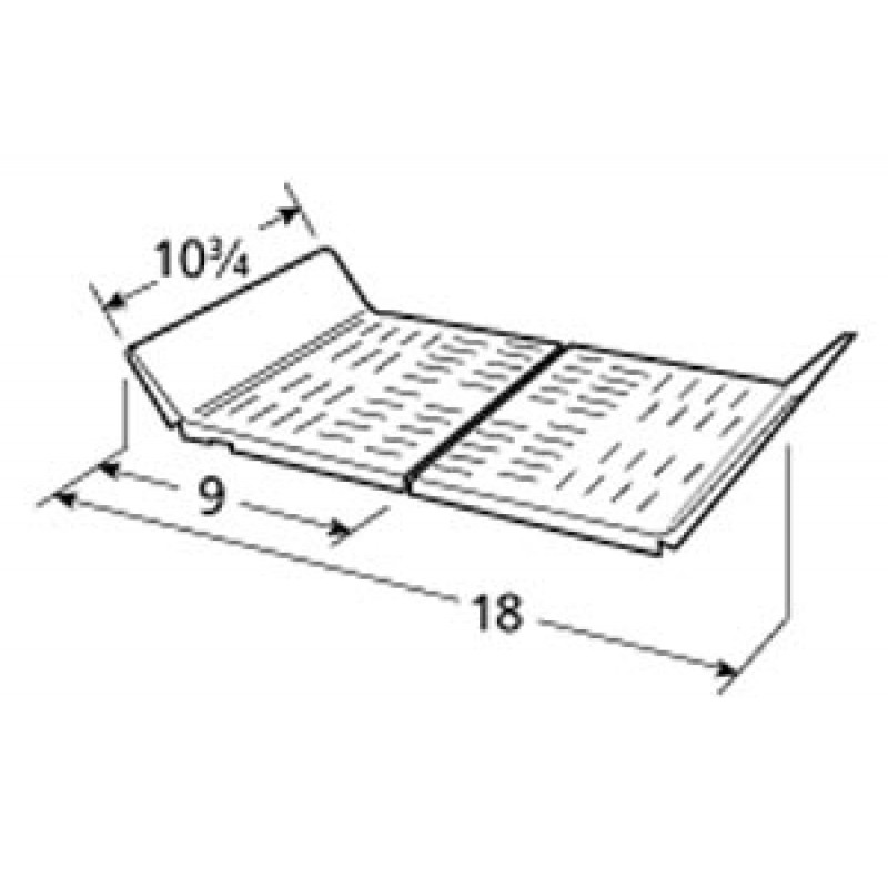 """9998102 Stainless Steel Heat Plate 10.75"""" x 18"""""""