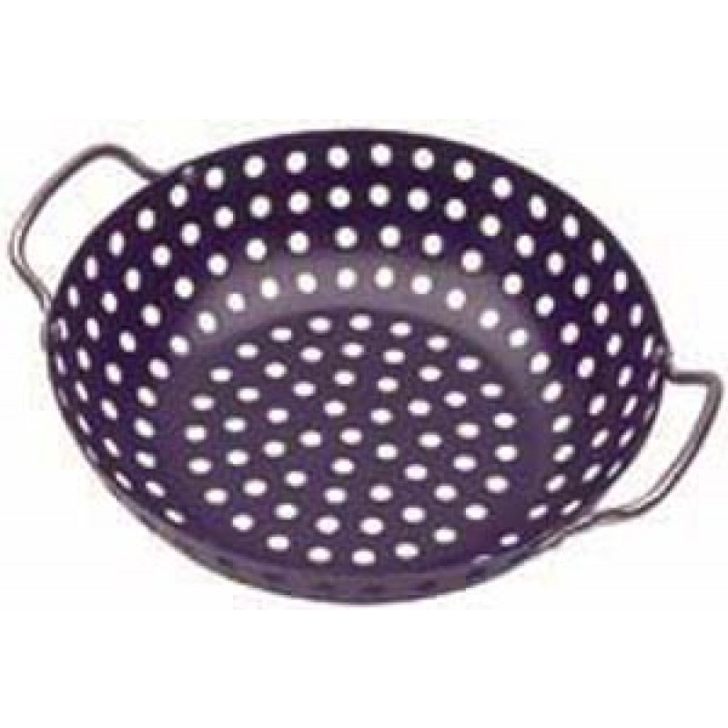 9998130 Deluxe Non-Stick Wok Topper. 11in In Diameter With Chrome Handles.
