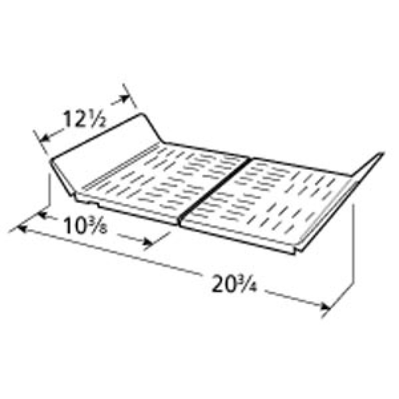 """9998142 Stainless Steel Heat Plate 12.5"""" x 20.75"""""""