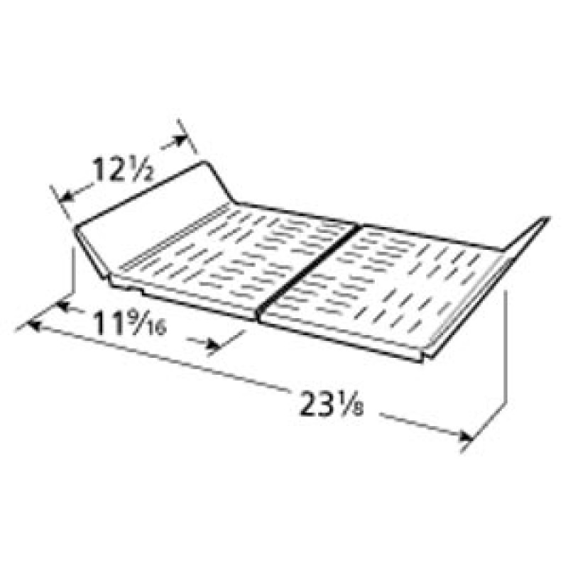 """9998152 Stainless Steel Heat Plate 12.5"""" x 23.125"""""""