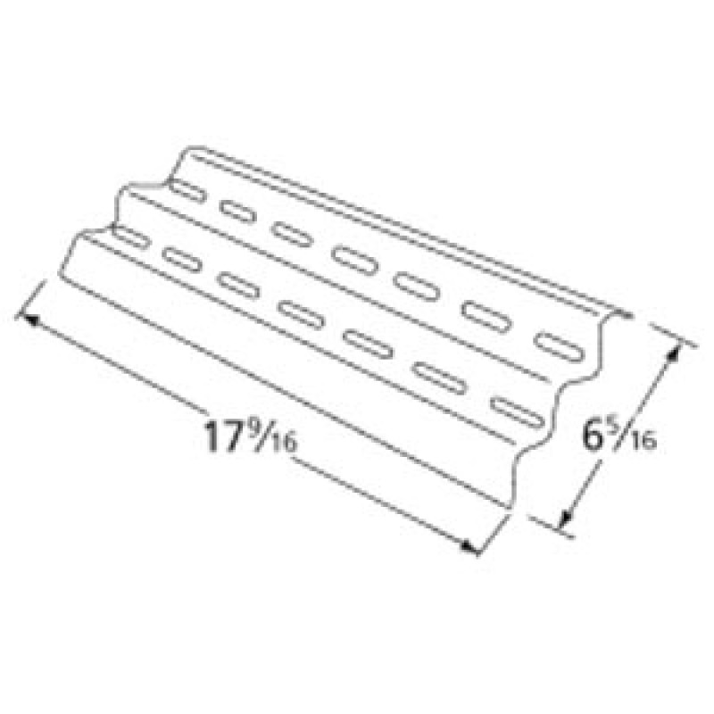 "9999041 Stainless Steel Heat Plate 17.5625"" x 6.3125"""