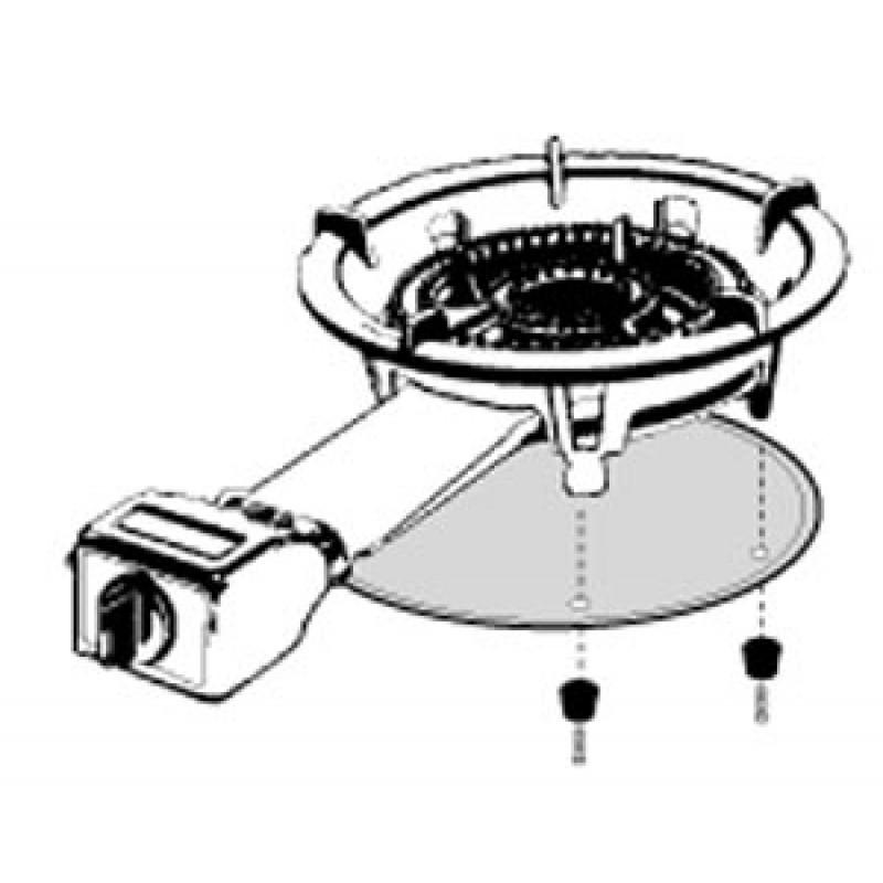 99K037 Radiation Shield For Kings Kooker280